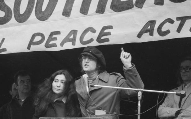 john lennon talking for peace