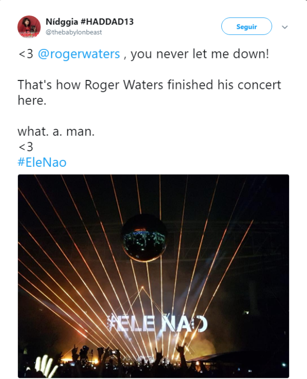 roger waters elenão SP show