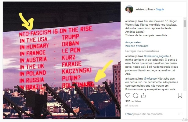 roger waters new fascism list SP show