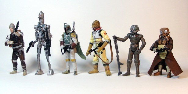 star wars Bounty Hunter toys