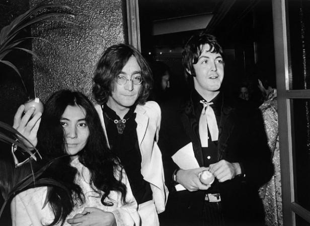beatles lennon mccartney and yoko ono 1968