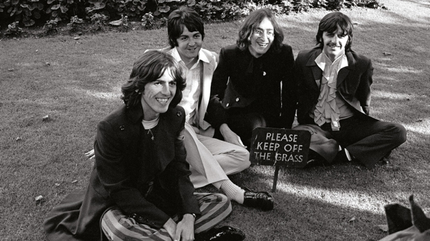 beatles please keep off the grass