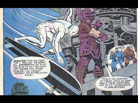 fantastic four 50 silver surfer and galactus